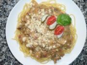 Spaghetti mit Steinpilz-Sauce - Rezept
