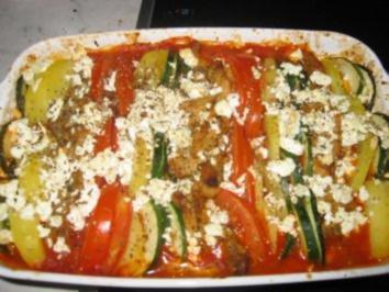 Gemüseauflauf mit GyrosFleisch - Rezept