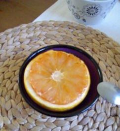 Gratinierte Grapefruit mit Zitronenschmand - Rezept