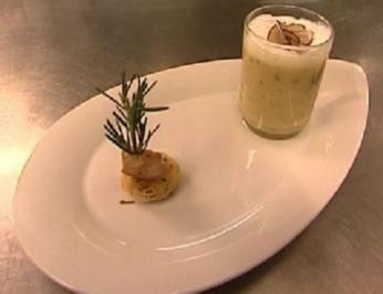 Rezept: Kartoffel-Trüffel-Macchiato mit Rosmarincracker