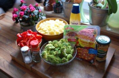 Bauerntopf mit Hackfleisch, Pilzen und Paprika - Rezept