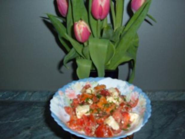 Salate : Salat-Paprika-Tomate - Rezept
