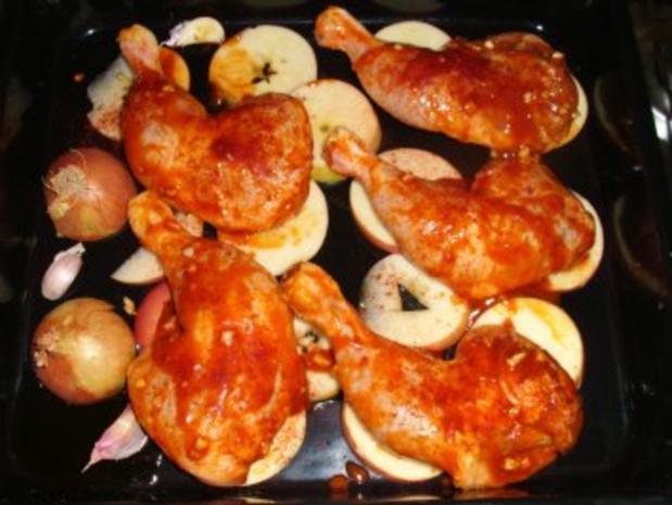 Hähnchenkeulen fruchtig mariniert - Rezept - Bild Nr. 3