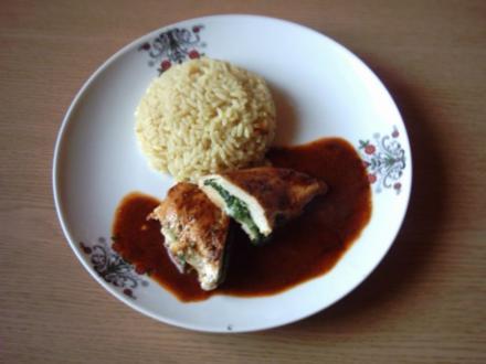 Hähnchenbrust-Spinat-Rollen - Rezept