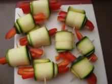 Zucchiniröllchen. - Rezept