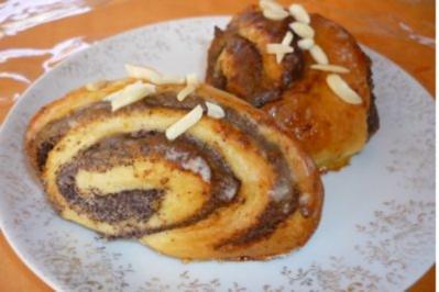 Marzipan-Mohn-Franzbrötchen - Rezept