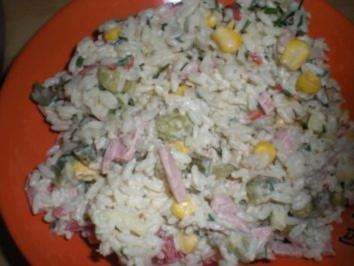 "Rezept: SALAT- "" Bunter Reis- Salat"""