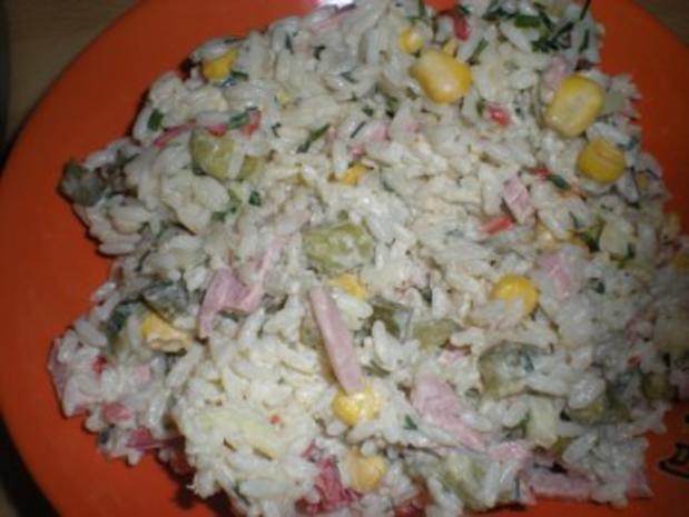 "SALAT- "" Bunter Reis- Salat"" - Rezept"
