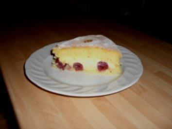 Fettarme Kirschkuchen - Rezept