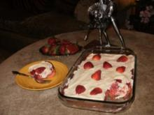 Kuchen- Erdbeerkuchen - die Stadt Plant City in Florida ist bekannt fuer die Erdbeeren und hat die tollsten Rezepten - Rezept