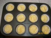 Apfel-Muffins mit Nutellaklecks und bunte Streusel - Rezept