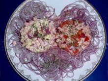 Zwei Wurstsalate ♥ ig angerichtet - Rezept