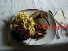 Rinderbraten mit Orangengelee und getrockneten Pflaumen - Rezept