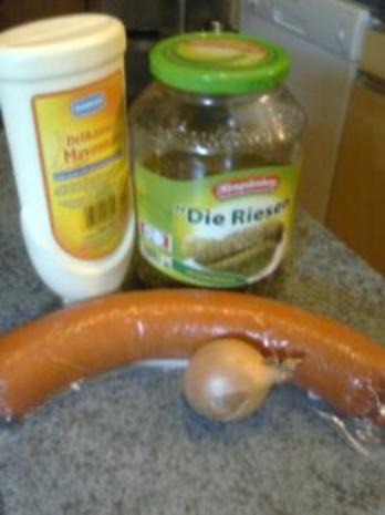 Mein schneller Fleischsalat - Rezept