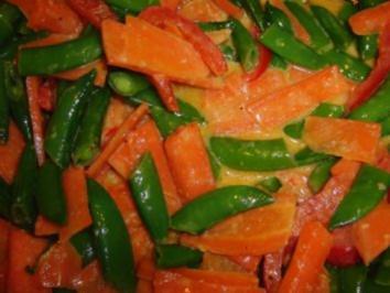 Curry-Kokosmilch-Gemüsepfannne - Rezept
