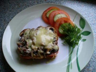 Schinken-Champignon-Toast - Rezept