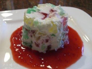 Dessert:   KONFETTI - DESSERT   sehr erfrischend - Rezept