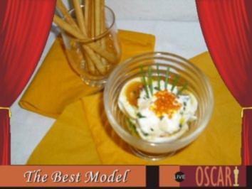 Eier im Glas mit Forellenkaviar - Rezept