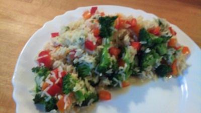 Brokkoli-Paprika-Reis - Rezept
