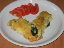 Pfannkuchen mit Spinat und Käse - Rezept