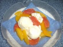 Marinierte Zitrusfrüchte auf Vanille-Eis - Rezept