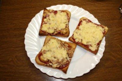 Pizza Toast- schnell und einfach - Rezept