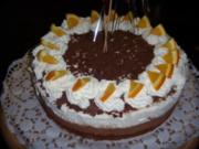 Schoko-/Orangen-Mousse-Torte - Rezept