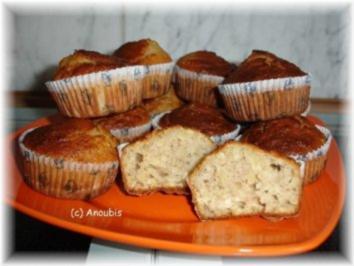 Kuchen/Gebäck - Bananenmuffins mit Nüssen - Rezept