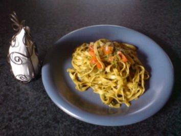 Tagliatelle in Spinat - Rezept