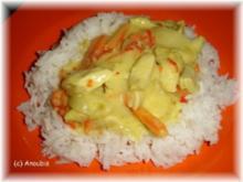 Geflügelgericht - Hähnchenbrust in Currysosse - Rezept
