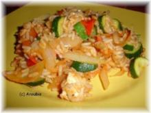 Hauptgericht vegetarisch - Griechische Reispfanne - Rezept
