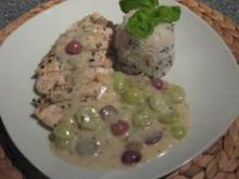 Paradies-Hühnchen mit Thymian & Weintrauben - Rezept