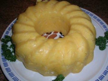 Rezept: Kartoffel-Gugelhupf-Pudding als Beilage zu meiner dicken Rippe in Altbiersauce