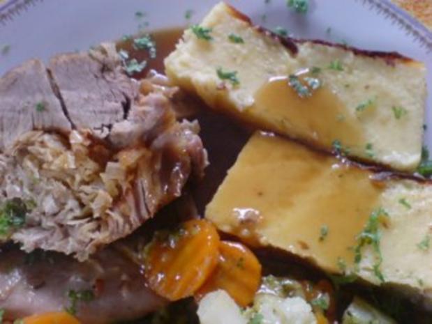 Kartoffel-Gugelhupf-Pudding als Beilage zu meiner dicken Rippe in Altbiersauce - Rezept - Bild Nr. 8