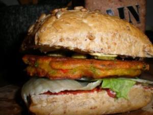 Feuriger Veggie-Burger - Rezept