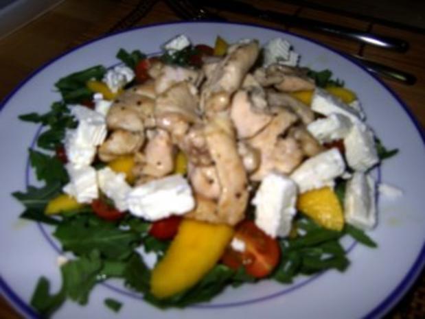 Fruchtiger Salat mit Hähnchenbruststreifen - Rezept - Bild Nr. 8
