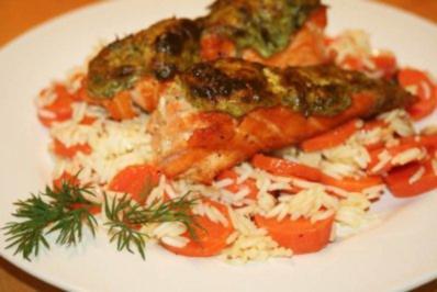 Lachs mit Meerrettichkruste - Rezept