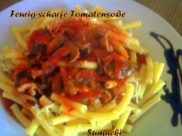 Feurig-scharfe Tomatensoße - Rezept