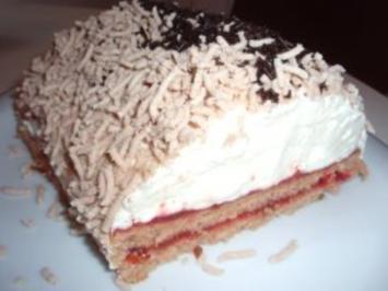 Torte: Schokolade-Maronischnitten - Rezept