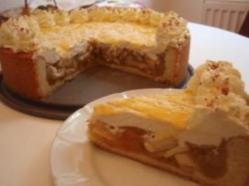 Torte: Apfeltorte mit Pudding - Rezept