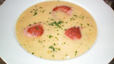 Gemüsecremesuppe mit Fleischwurst - Rezept