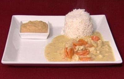 Chicken Madras auf indischem Reis mit Kichererbsenmus (Dirk Moritz) - Rezept