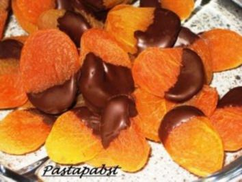 Schokolierte Aprikosen - Rezept