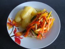 Lachsfilet mit Gemüsehaube - Rezept