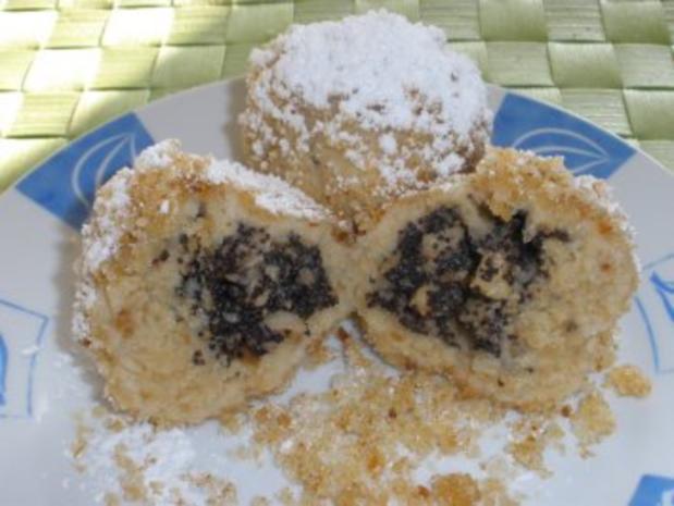 Dessert - Topfenknödel mit Mohn - Apfel - Fülle - Rezept