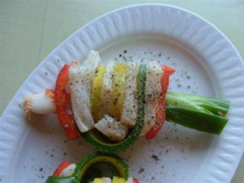 Tintenfisch-Zucchini-Paprika-Spieß - Rezept