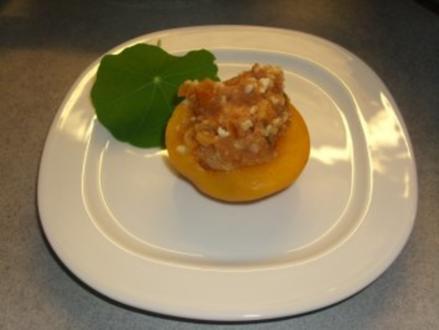 Dessert: Gefüllte Pfirsiche - Rezept
