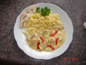 Fleisch : Sahne-Käse Geschnetzeltes - Rezept