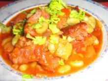 Kasslertopf mit Bohnen und Gemüse - Rezept