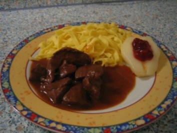 Hirschgulasch - Rezept